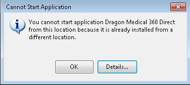 Dragon Medical One ClickOnce Update Fails
